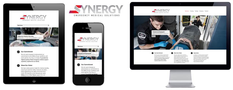 Synergy Medical Edmonton Website Design Slide