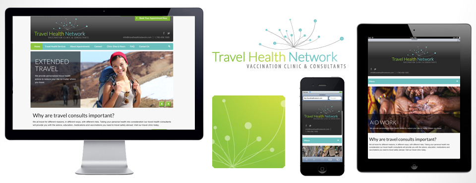 Travel Health Network Branding and Responsive Web Design Slide