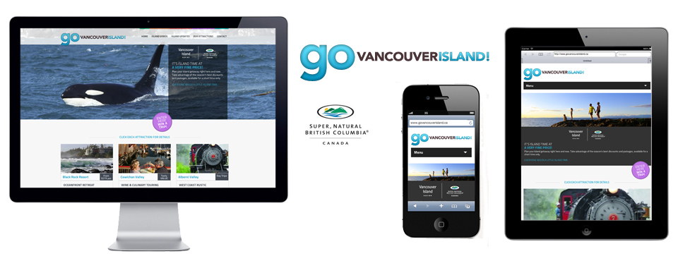 Go Vancouver Island Website Design Slide