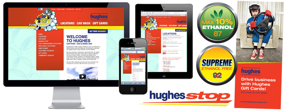 Hughes Car Wash Edmonton Web Design Slide